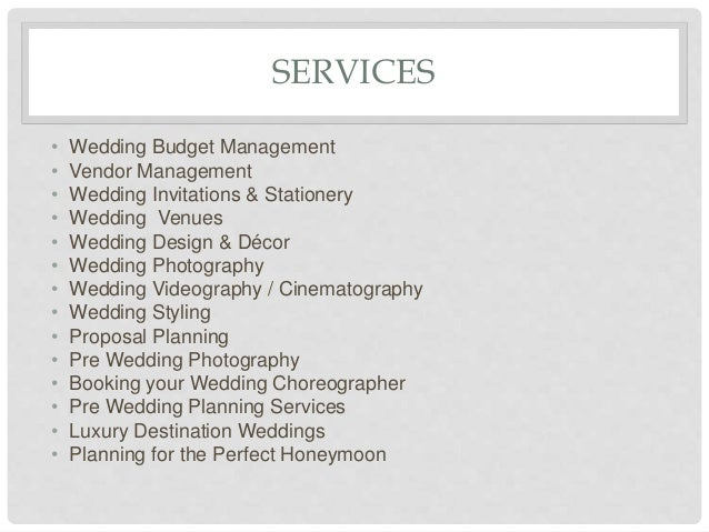 Business plan of dream wedding planner 10 services wedding junglespirit Image collections