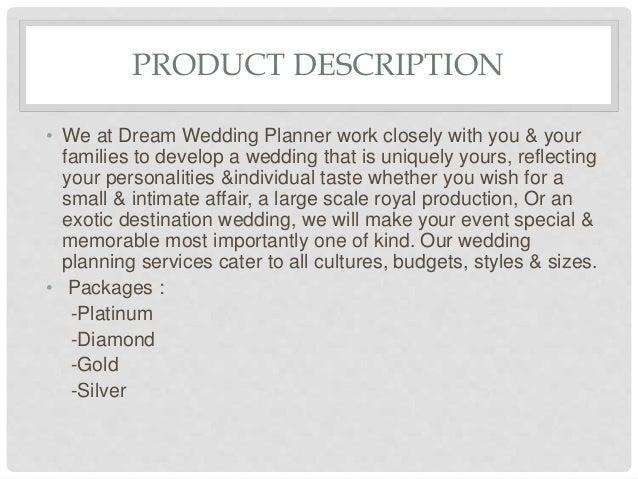 Business Plan Of Dream Wedding Planner