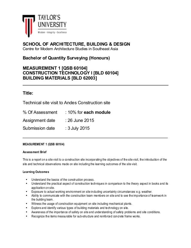 Assignment brief for site report  pdf