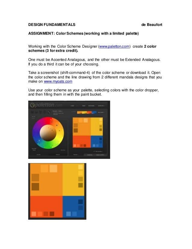 Assignment:Color Schemes
