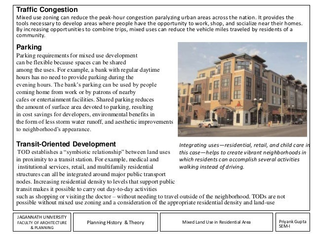 Assignment mixed land use