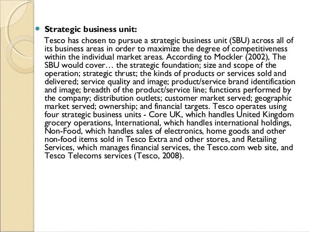 Unit 7 Business Strategy Assignment - Tesco PLC
