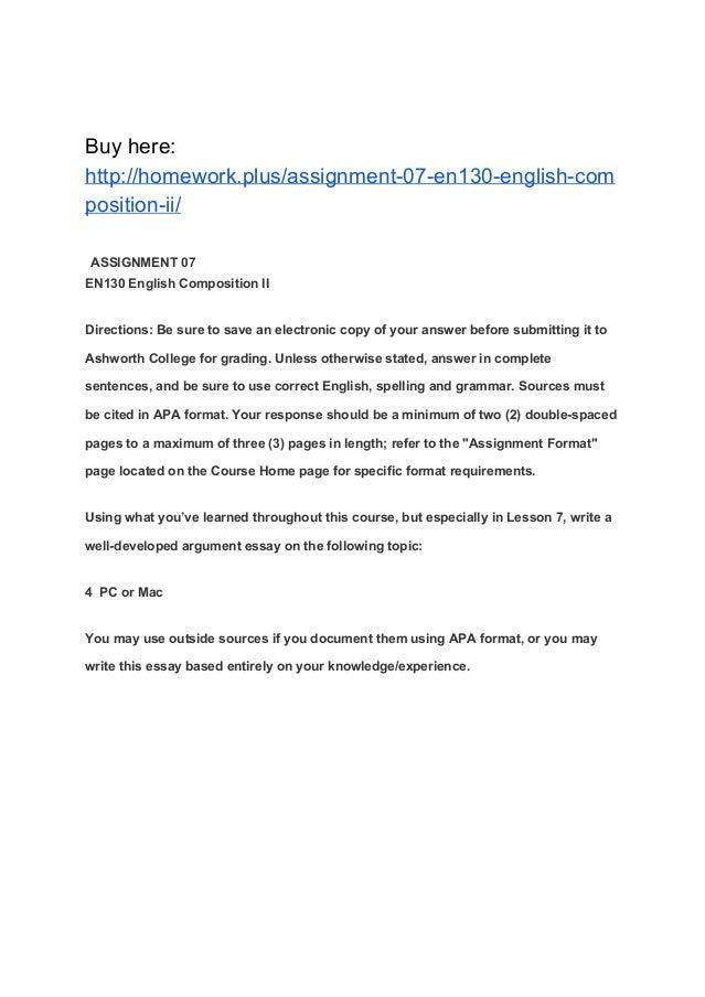 assignment en english composition ii assignment 07 en130 english composition ii buy here homework plus assignment 07 en130