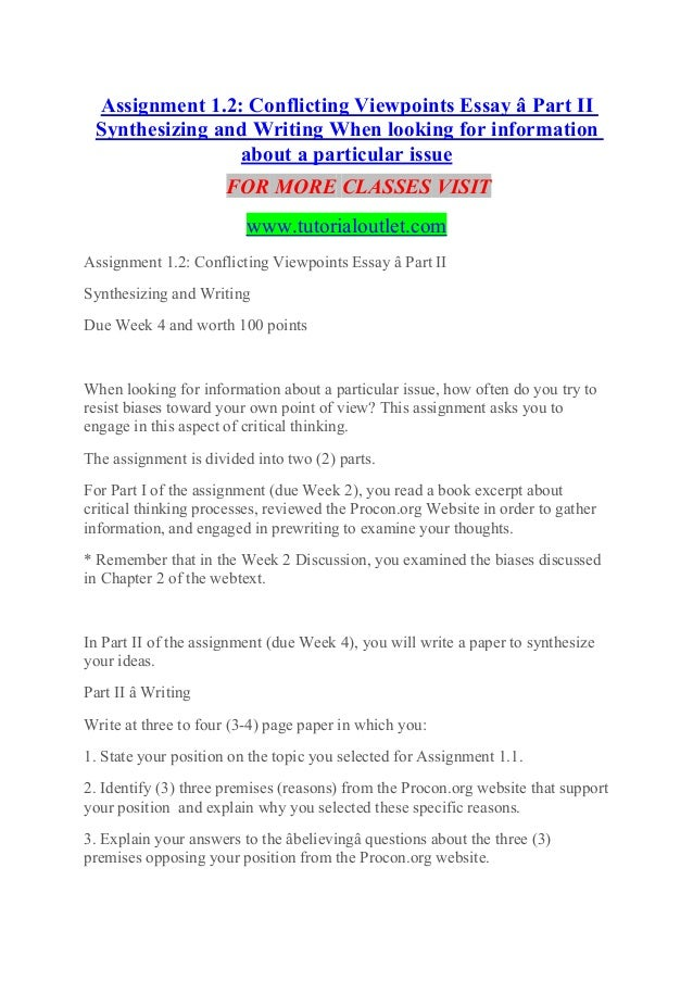 English Literature Essay Questions Assignment  Conflicting Viewpoints Essay  Part Ii Synthesizing And  Writing When Looking For Information  Thesis For Argumentative Essay Examples also English Creative Writing Essays Conflicting Viewpoints Essay  Part Ii Synthesizing Experience Tradit Sample Essays For High School