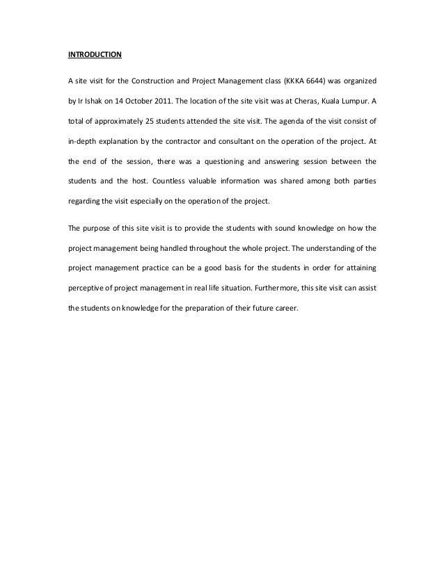 school visit report pdf