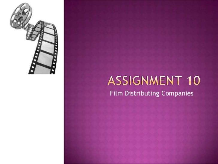 Film Distributing Companies