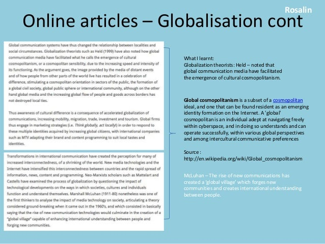current globalization articles