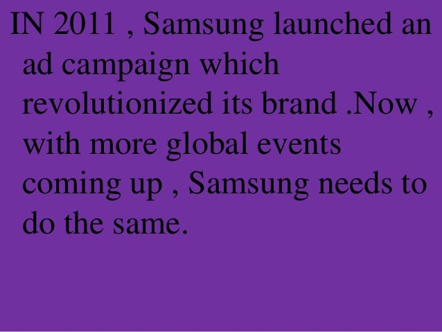 samsung corporate strategy summary Strategic management analysis of the strategy of the apple, inc submitted to: prof executive summary an integrated approach 5th edn boston and new york: houghton mifflin company - morden t (1993) business strategy and planning - text and.