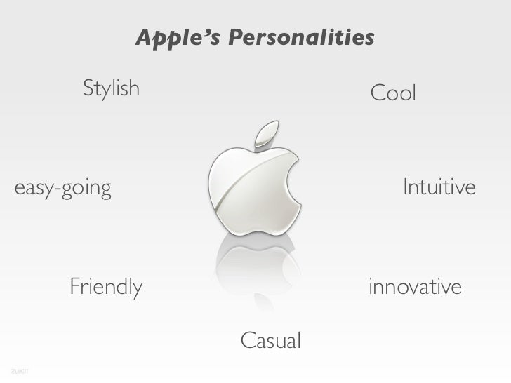 Apple's Personalities       Stylish                   Cooleasy-going                           Intuitive     Friendly     ...