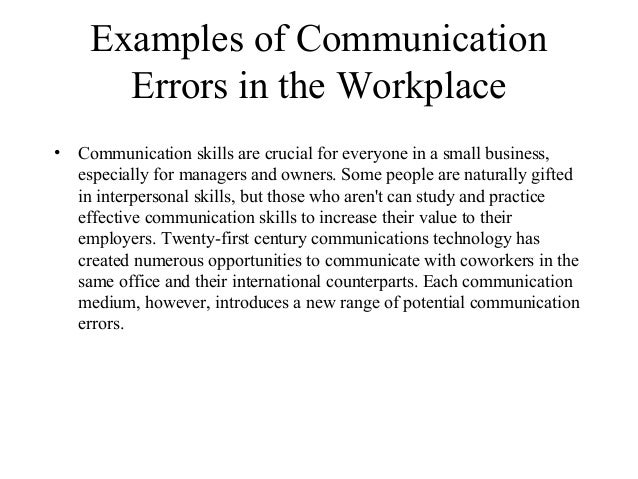 The Effects of Poor Communication in Business