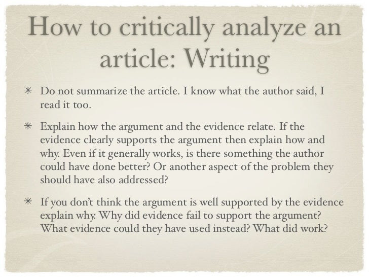 critically study articles