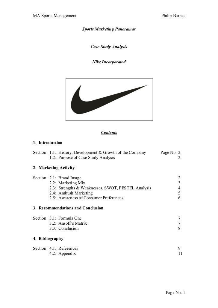 Nike Marketing Analysis – Market Analysis Example
