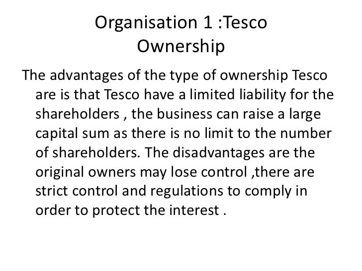 shareholders - tesco essay Stakeholders in tesco and college a pages: 4 words: 1074 this is just a sample  their main interest in the business is their salary, share options, personal job satisfaction and their status they want to work their way up in the business  related essays tesco and oxfam stakeholders.