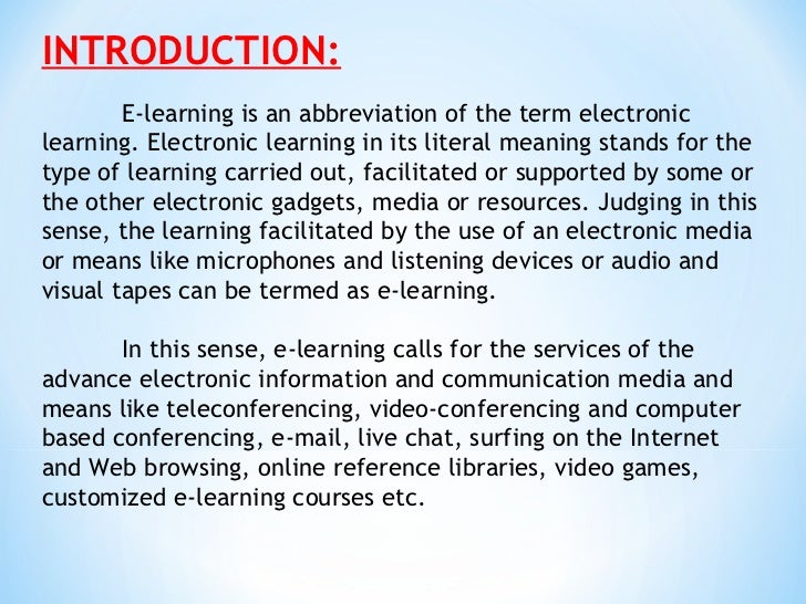 e-learning thesis master This is the first 11 pages of a 30-page thesis on the subject master thesis thesis all papers and essays are sold as research to assist students in the.