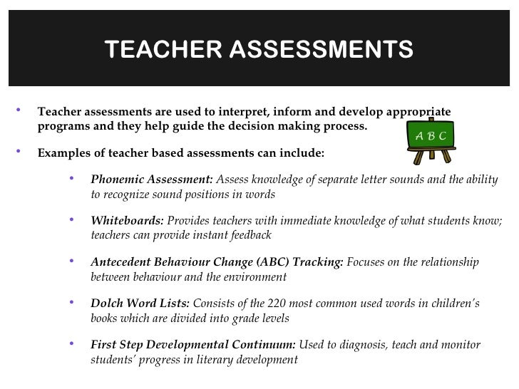 Teacher Assessments & IEP Development & Collaboration