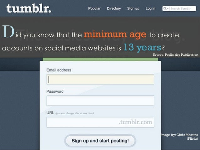 Did you know that the minimum age to createaccounts on social media websites is 13 years?Source: Pediatrics PublicationIma...