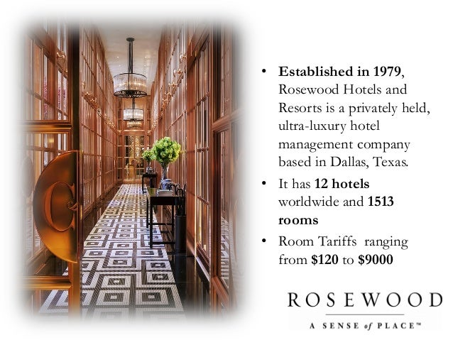 harvard business school rosewood hotels resorts School of business and cambridge: harvard business review 3 mcmaster rosewood hotels and resorts: branding to increase customer profitability and.