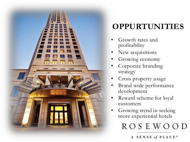 Rosewood hotels swot