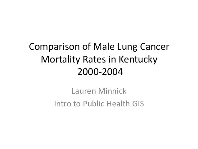 Comparison of Male Lung CancerMortality Rates in Kentucky2000-2004Lauren MinnickIntro to Public Health GIS