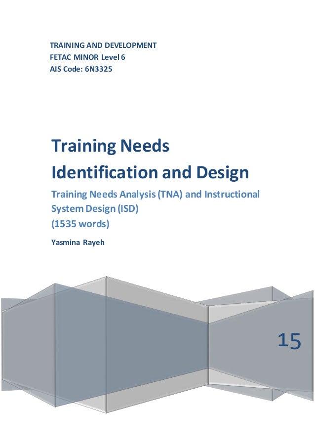 Ais Code 6n3325 Training Needs Identification And Design Training