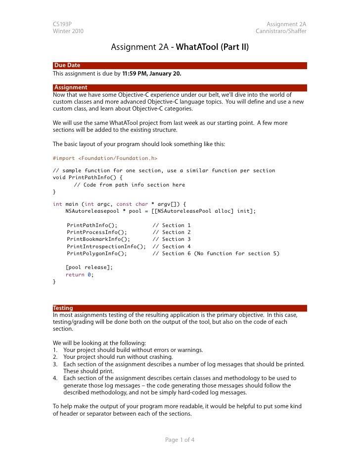 CS193P                                                                            Assignment 2A Winter 2010               ...