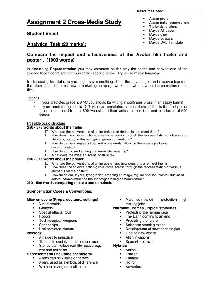 media assignment Resources for use with assignment 3 - creating four pages of a magazine plus evaluation.