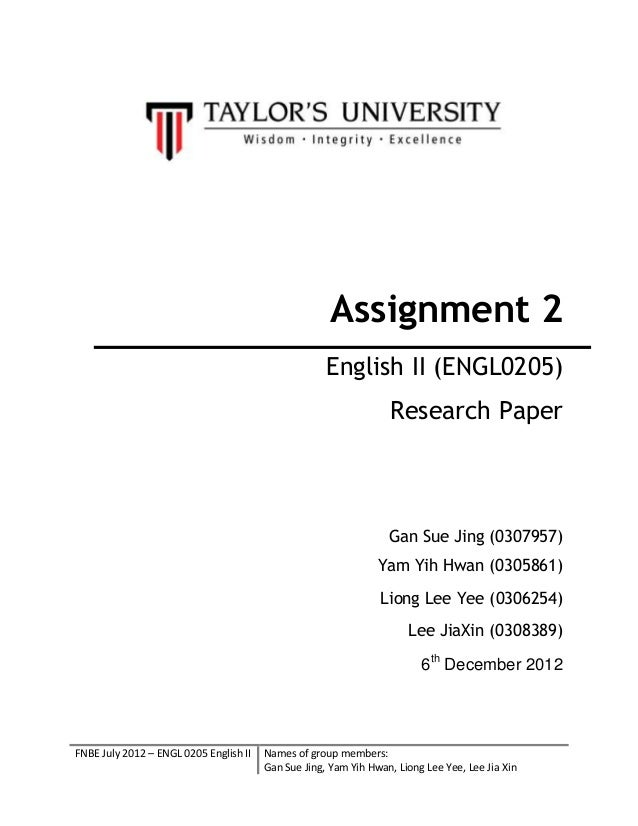 cover for assignment template