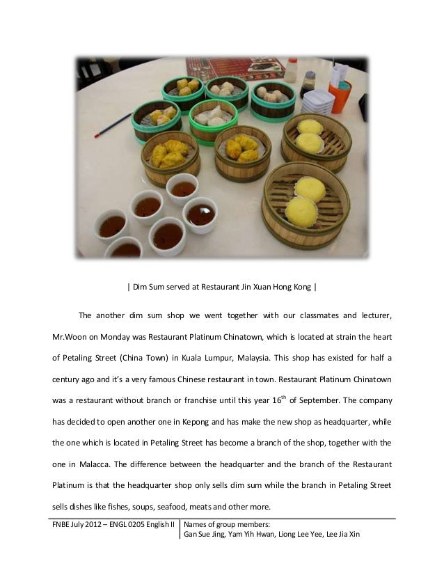 term paper on chinese foods