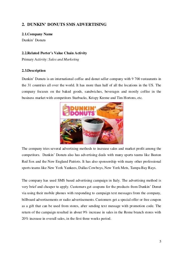 krispy kreme value chain analysis Krispy kreme financial analysis krispy kreme doughnuts inc is business that is involved in retail and wholesale of packaged sweets and doughnuts its initial business is franchising and also owning krispy kreme stores.