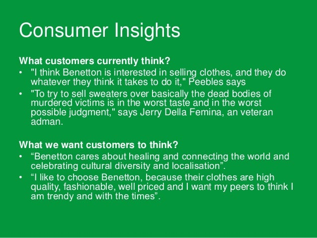 benetton strategy A cursory study of internationalizationstrategy followed by benetton group sources - web resources.