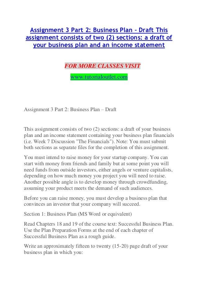 assignment 3 part 2 business plan docxendless education tutorialoutl