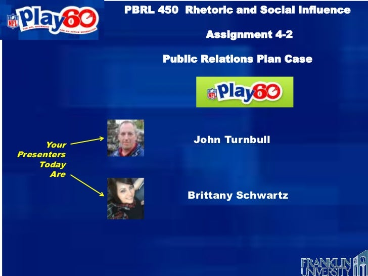 PBRL 450 Rhetoric and Social Influence                          Assignment 4-2                   Public Relations Plan Cas...
