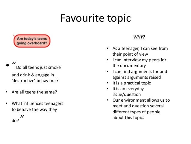 Assignment 4 doc topic ideas