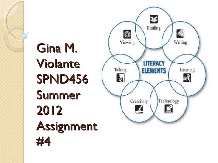 Gina M.ViolanteSPND456Summer2012Assignment#4