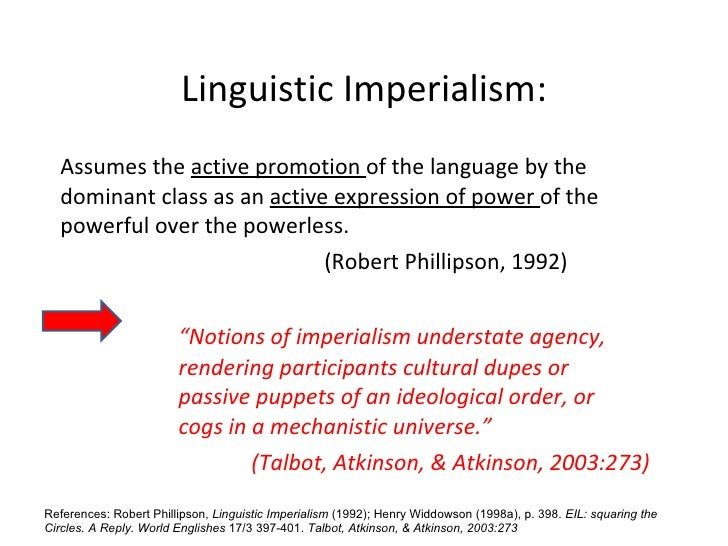 linguistic imperialism examples