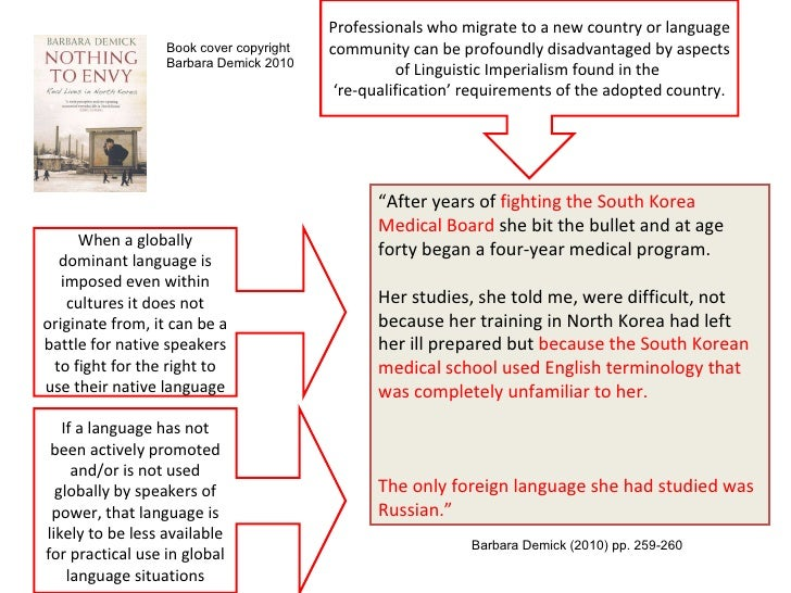 "linguistic imperialism essay The power of language in the text ""can english be dethroned"", roland breton(2000) points that english is one of the most widespread use of languages in the world."