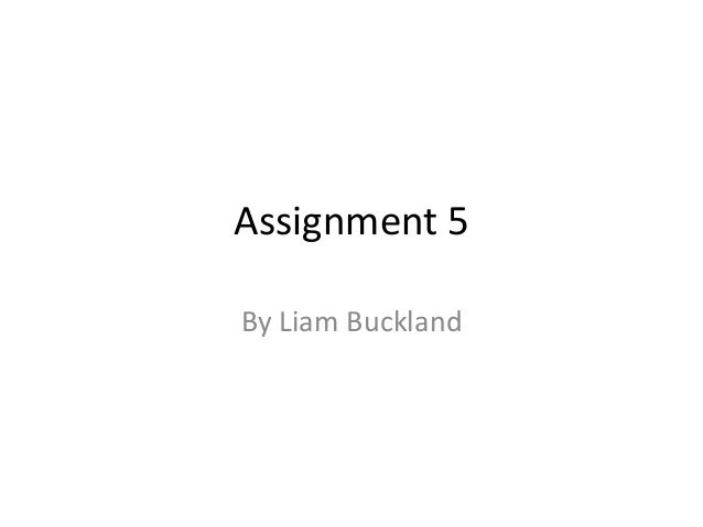 Assignment 5 By Liam Buckland