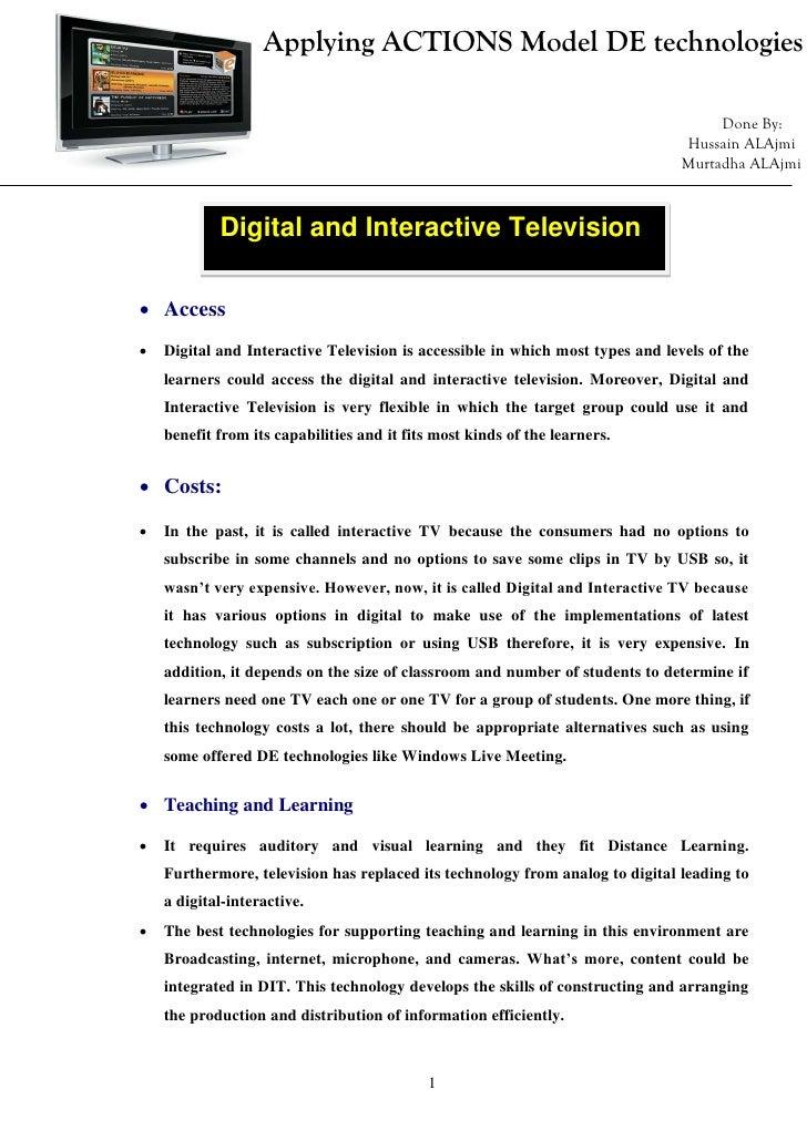 Applying ACTIONS Model DE technologies                                                                                    ...