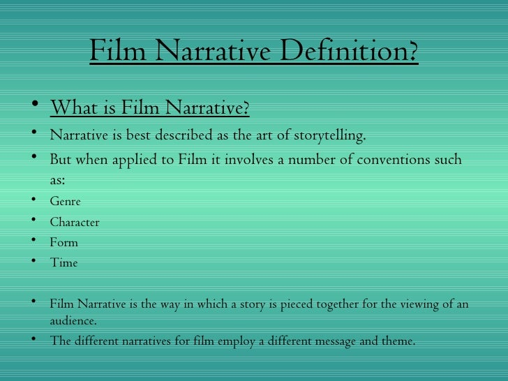 Assignment 7 film narrative