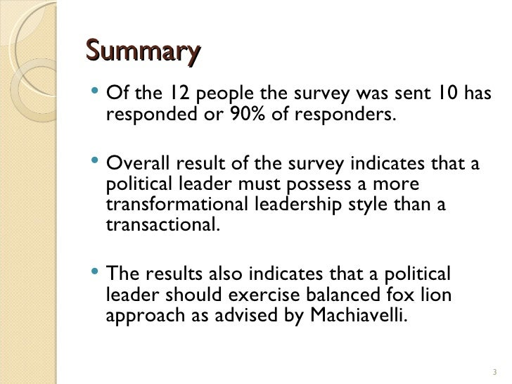 What makes a leader summary