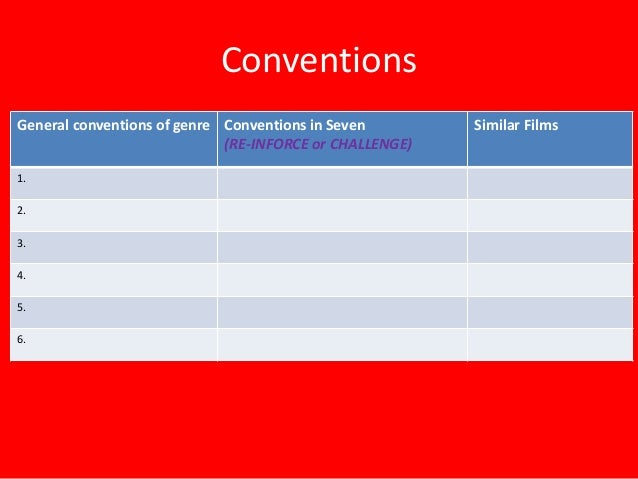 an analysis of the conventions of the crime fiction genre Overview of the fantasy fiction genre and  writing fantasy fiction  but as a writer you need to be aware of a few facts and conventions of the genre before.