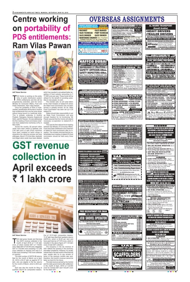 Assignmentabroadtimes 05th may 2018