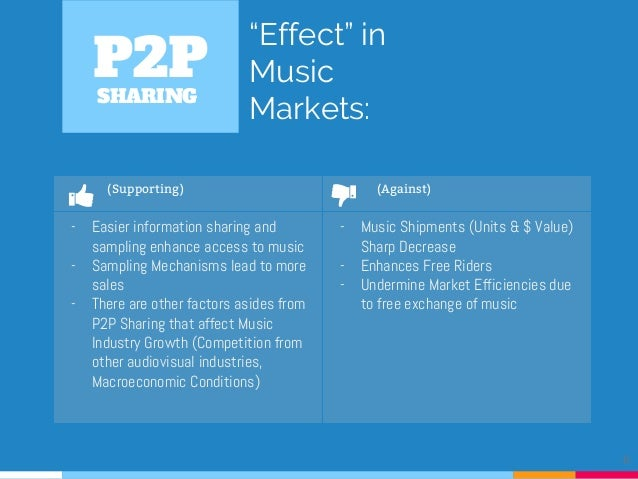 p2p file sharing and its influence essay I think the advantages of peer pressure is you start to feel very uncomfterble and worried about  peer 2 peer connections have very good  in file sharing.