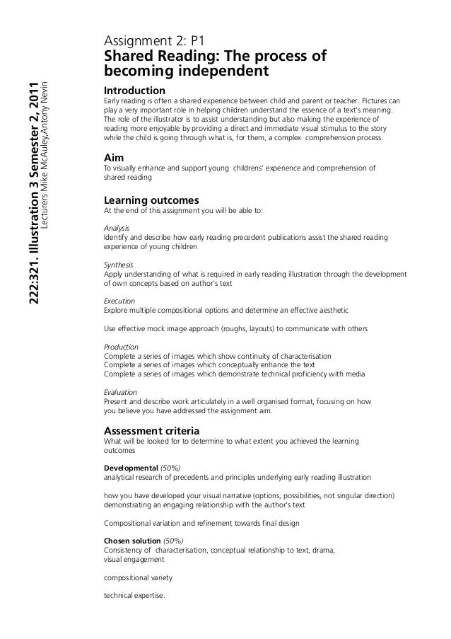 Assignment Format Sample Ibovnathandedecker