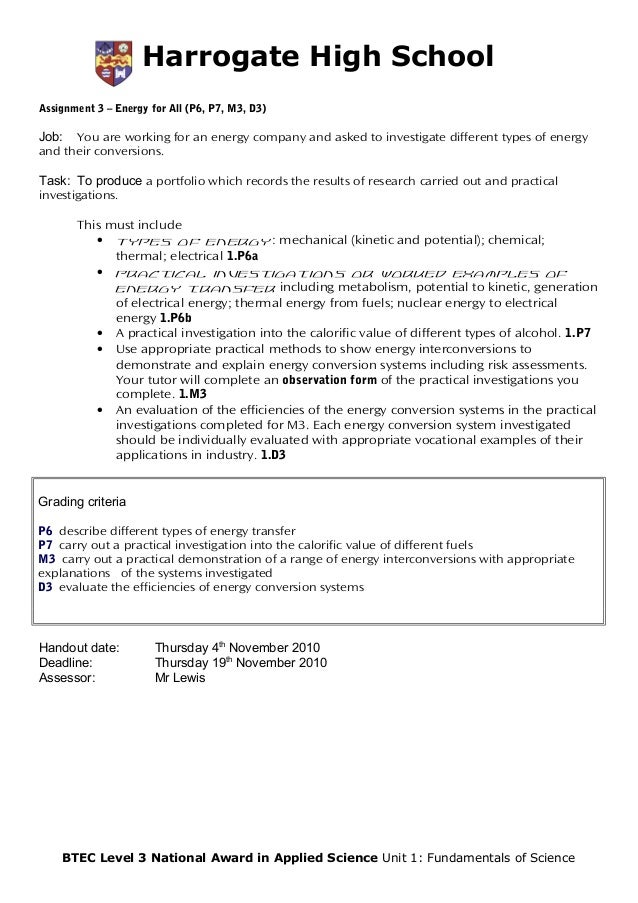 unit 1 assignment brief 1 Ealing, hammersmith & west london college: assignment brief unit number and title unit 1 business environment qualification btec l3: national extended .
