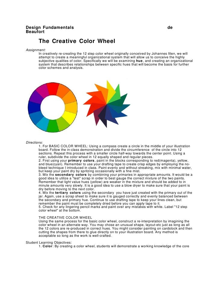 Color theory assignments new yorker essay by laura miller