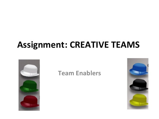 Assignment: CREATIVE TEAMS        Team Enablers