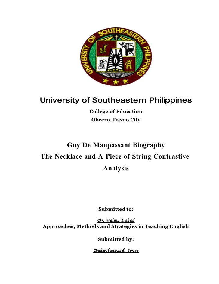 University of Southeastern Philippines                  College of Education                  Obrero, Davao City          ...