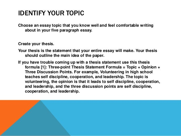 Expository Paper Example and Outline