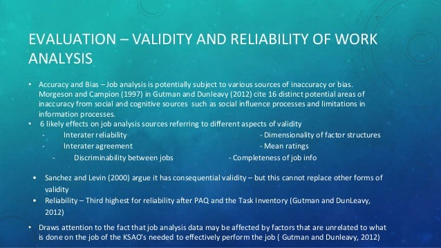 why are reliability and validity important in human resource selection?